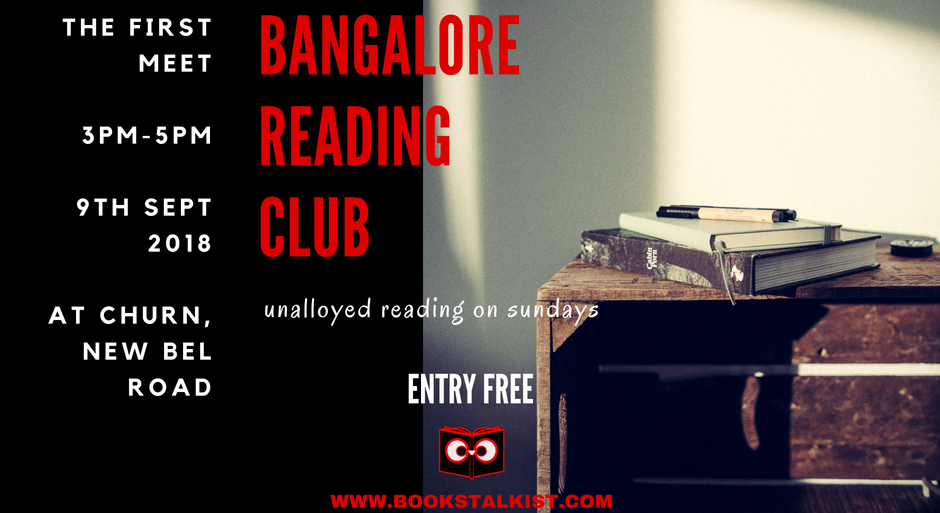 bangalore reading club meetup 1 on 9th September from 3pm to 5pm at Churn