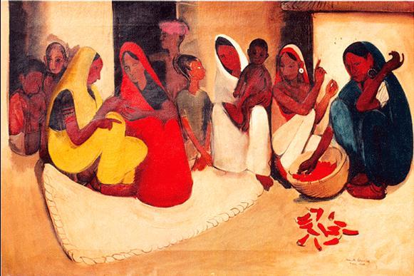Amrita Sher-Gil's Village-Scene-1938